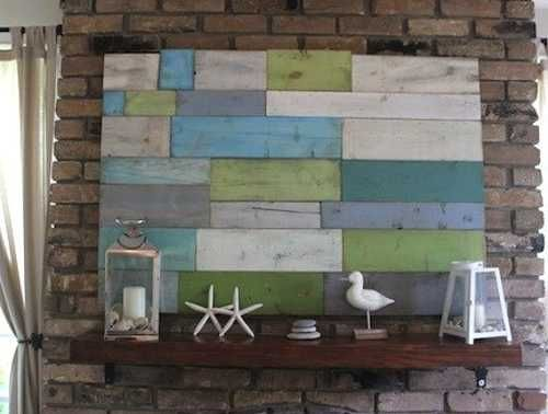 salvaged wood wall decoration