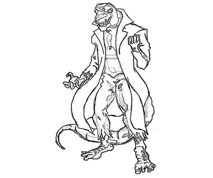 Detailed Coloring Pages Of Spider Man Lizard Man Detailed Coloring Pages Spiderman Coloring Animal Coloring Pages