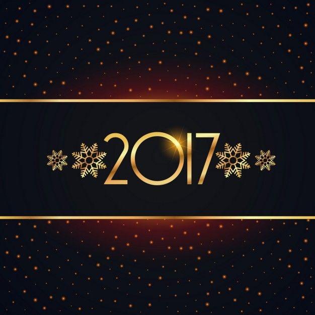 элегантный 2017 новый год дизайн фона Бесплатные векторы