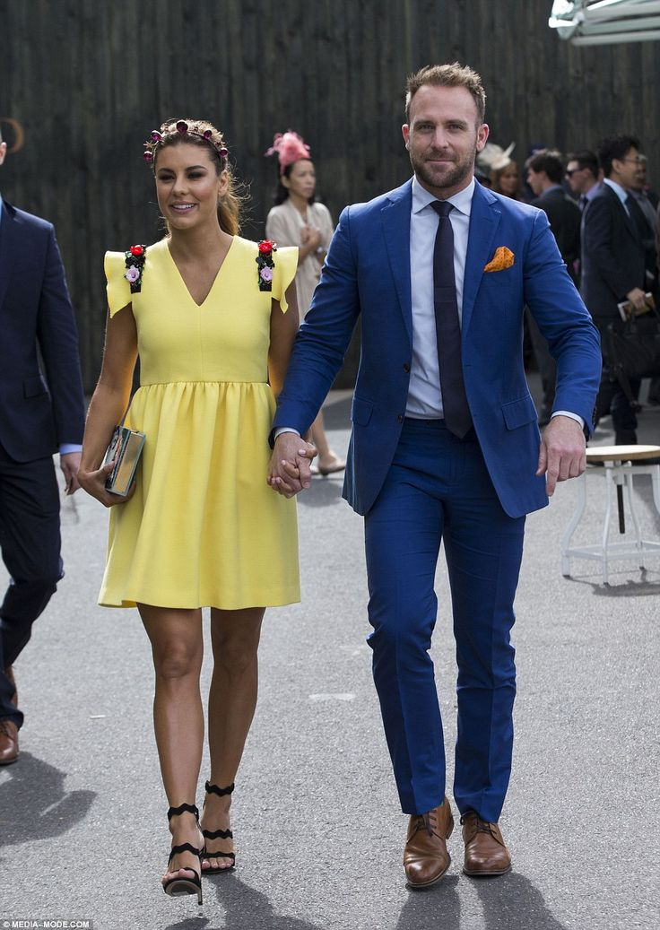 Here comes the sun! Myer ambassador Lauren Phillips looked sweet in a sunny yellow fit-and...