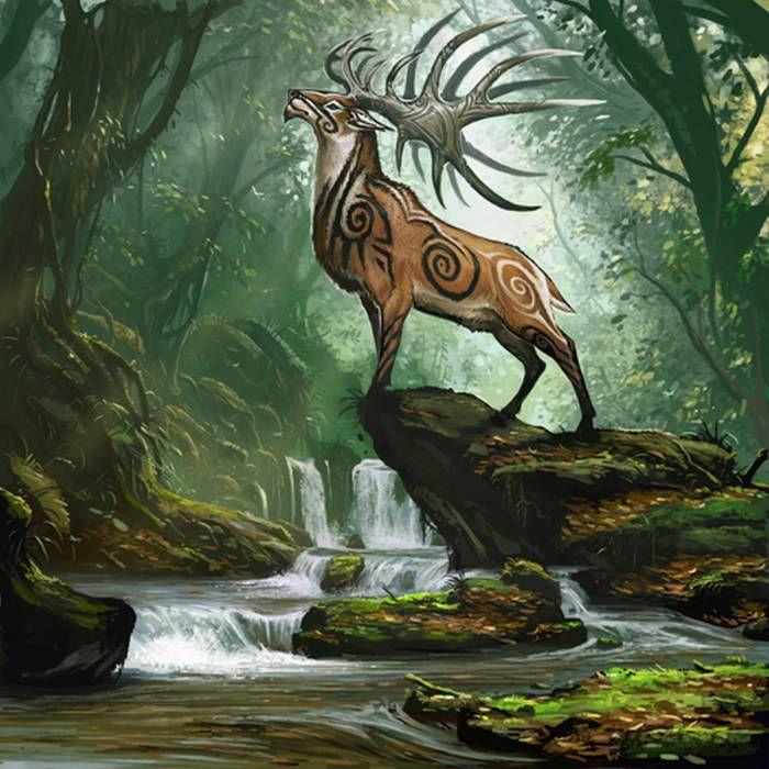 "Celtic-forest-faerie: "" {Bull Elk} By {BenWootten"
