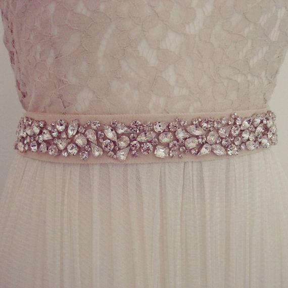 Embellished Crystal Bridal Sash / Belt on Etsy, £200.00