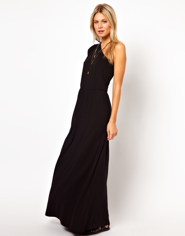 Pretty black maxi dress.