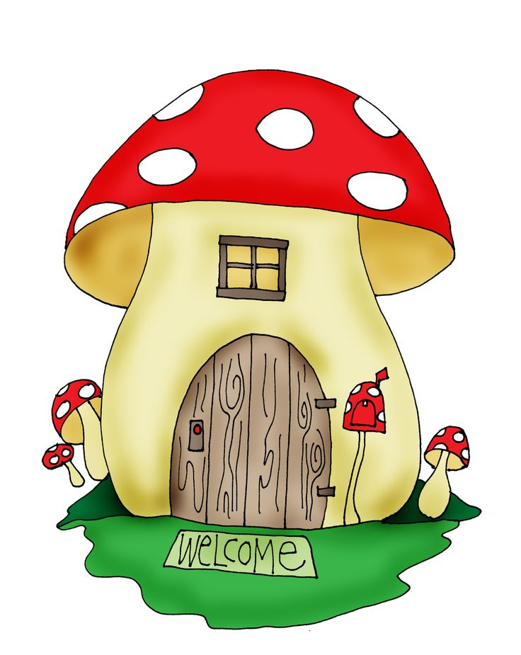 Free Dearie Dolls Digi Stamps: Mushroom House