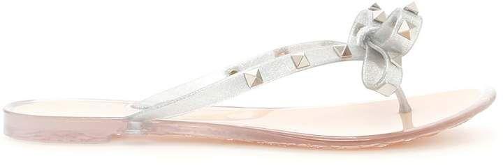 Valentino Glitter Rubber Flip Flops