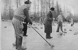 Curling Central, Otago. 'Sweeping' is a very important job when curling... http://www.centralotagonz.com/winter-sports
