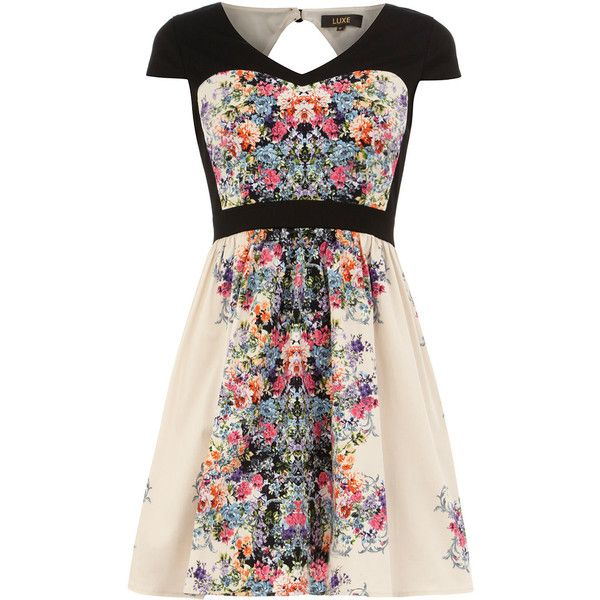 Dorothy Perkins Luxe Mirror print prom dress (£15) ❤ liked on Polyvore featuring dresses, vestidos, multi colour, multi colored prom dresses, panel dresses, multicolor prom dress, prom dresses and patterned prom dresses
