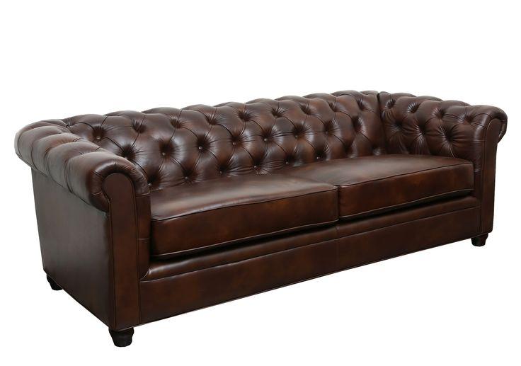 Abbyson Living Foyer Premium Italian Leather Sofa & Reviews   Wayfair