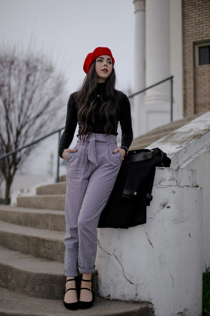45016cf596161 How to style a red beret for fall.