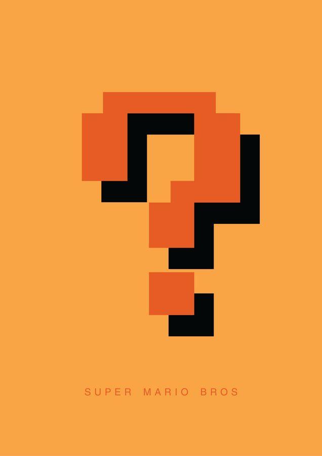 Super Mario Brothers minimalist poster