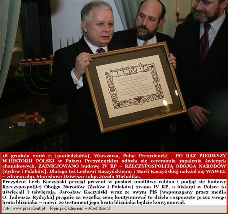 Chanuka u Prezydenta Lecha Kaczyńskiego - KLIKNIJ