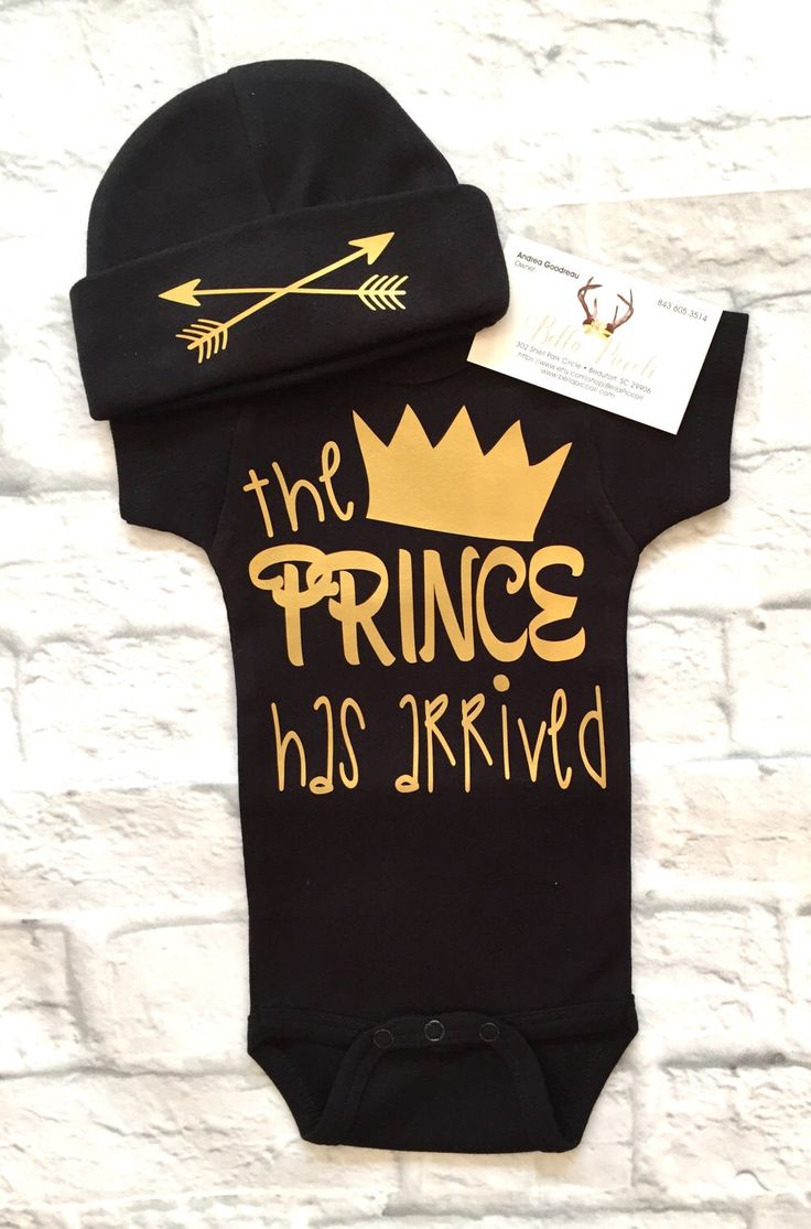 A personal favorite from my Etsy shop https://www.etsy.com/listing/505662732/baby-boy-clothes-the-prince-has-arrived