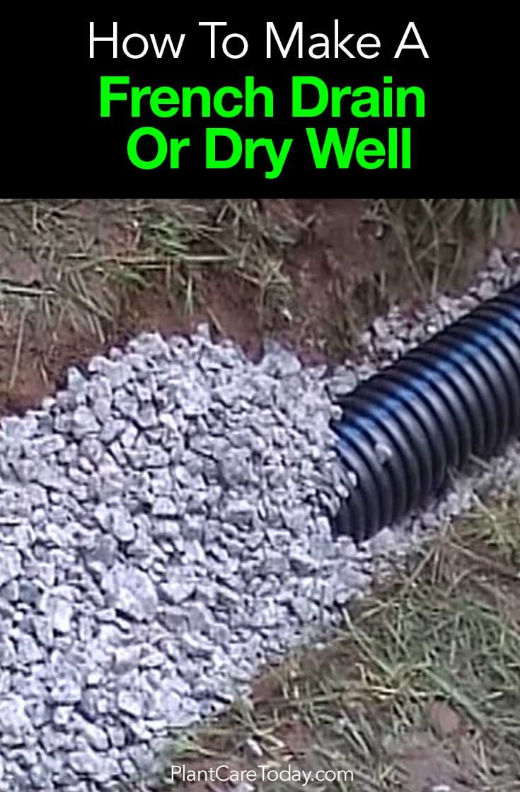 A French Drain Or Dry Well Is Trench Filled With Rock Gravel Perforated Pipe Directing Surface Water Away From Structure Learn More