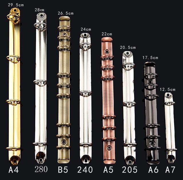DIY pierścień mechaniczne, 6 pierścień spoiwa mechanizm, 280 A4 A6 A7 A5 B5 spoiwa klip
