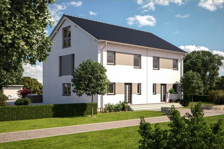 Bärenhaus Doppelhaus Duo 148 Eingang weiss