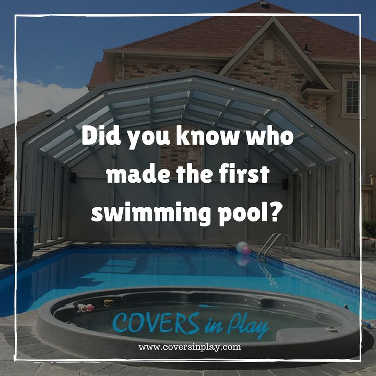 The first heated swimming pool was built by Gaius Maecenas of Rome in the 1st century BC. http://www.coversinplay.com/  #Pool #PoolCover #SwimHarder #PoolEnclosure #PoolDesigns #SwimmingPool #GroundPool #PoolBlanket #DailyFacts