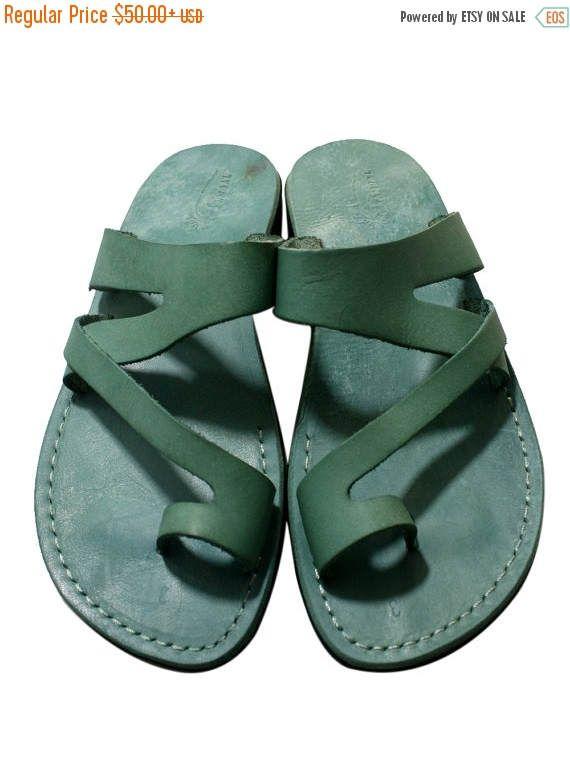 20% Off Green Zing Leather Sandals For Men & Women  Handmade