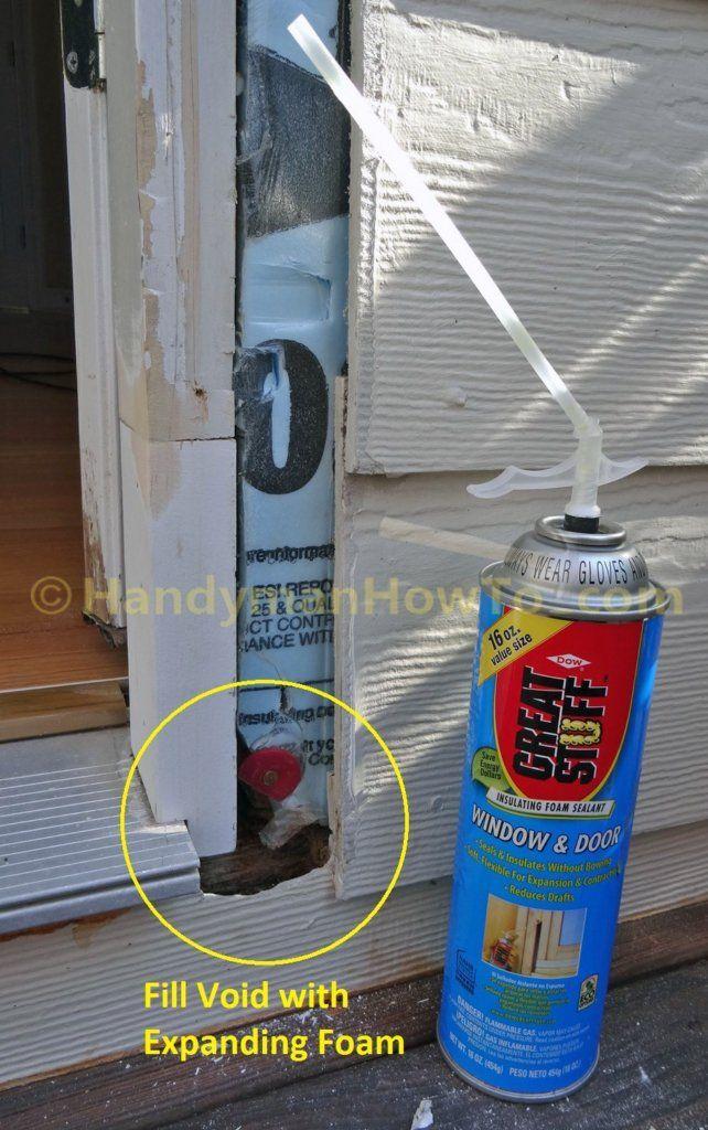 Rotted Door Frame Splice Repair Expanding Foam Void Fill Exterior Door Frame Door Frame Repair Door Frame