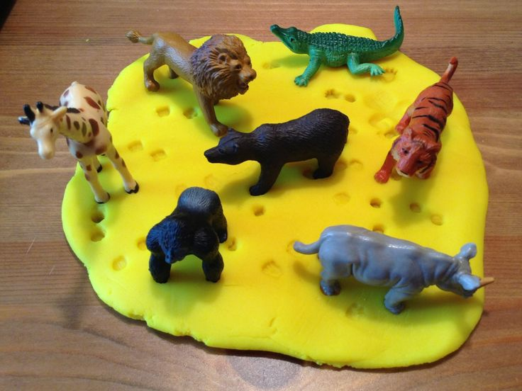 Zoo Activity - Comparing zoo animal tracks with play dough - Preschool Activity