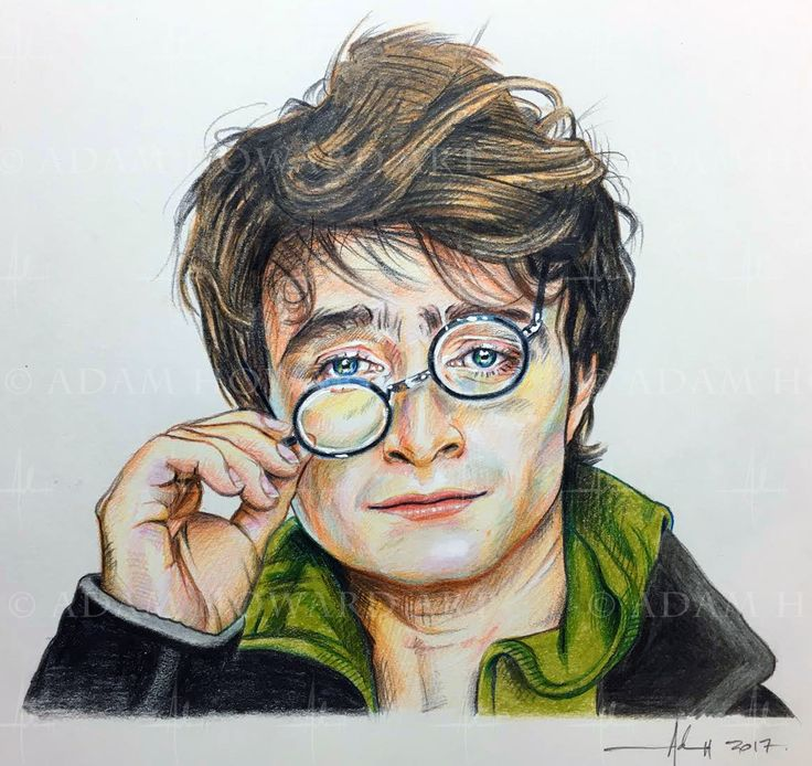 "DANIEL RADCLIFFE  (aka Harry Potter)   Illustration © Adam Howard 2017 Medium is Color Pencil and acrylic paint on acid free Strathmore Drawing paper. Dimensions are 7"" wide by 7"" high  #adamhowardart #danradcliffe #danielradcliffe #harrypotter  #actionfilm #popcorn #blockbuster #fantasy #hogwarts #blackglasses #actor #movies #hollywood #adamhoward #illustration #portraits"