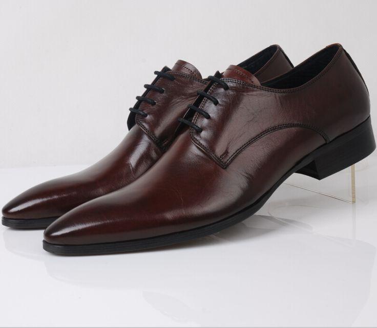 Мужские ботинки платья мода свадебная обувь Из Натуральной кожи оксфорд мужские бизнес обувь новые 2016 мужские офисные туфли бесплатная доставка