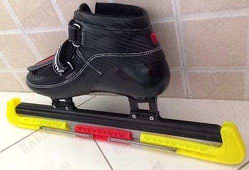Livraison gratuite adultes de vitesse patins à glace lame couverture rouge