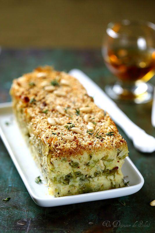 Gâteau de pommes de terre et haricots verts comme en Ligurie