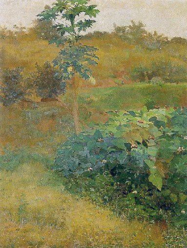 """Mamoeiro"".  (1889). (by Eliseu Visconti)."