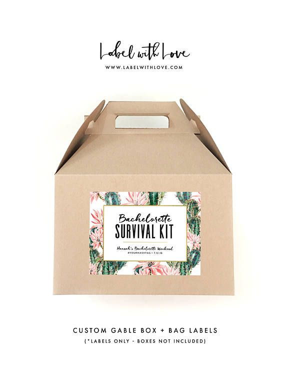 Bachelorette Survival Kit Labels  Hangover Survival Kit