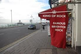 Brighton rock shop on the seafront in King's Road