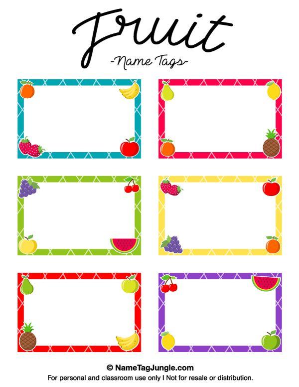 Printable Fruit Name Tags Name Tag Templates Labels Printables Free Fruit Names