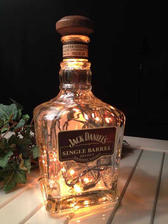 Jack Daniels Bottle Light Liquor Whiskey Lamp Single Barrel Select Tennessee Bourbon Drinker on Etsy, $40.00