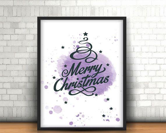 Christmas printable wall art decor 'merry by BeePrintDesigns
