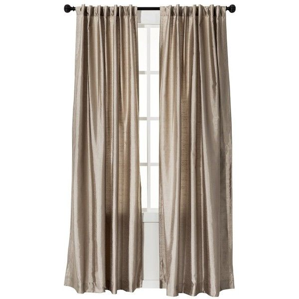 Threshold Faux Silk Curtain Panel   Tan   25    liked on Polyvore featuring  home. 17 Best ideas about Target Curtains on Pinterest   Little boy