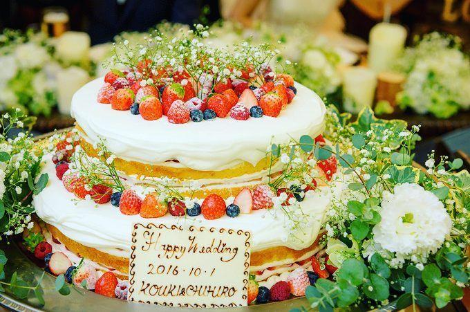 ネイキッドケーキ ナチュラルに可愛さをプラス #ラマーレ#プライベート#ガーデン#ガーデンウェディング#アットホーム#アットホームウェディング#結婚式#結婚式場#ウェディングケーキ#ケーキ入刀#ネイキッドケーキ #ナチュラル#可愛い#長野市#長野#幸せ#プレ花嫁#日本中のプレ花嫁さんと繋がりたい #全国のプレ花嫁さんと繋がりたい #lamare#private#garden#gardenwedding#wedding#nagano#happy