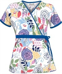 I have this top from Uniforms Advantage... Fresh Cuttings Mock Wrap.  Super cute & reasonably priced :)