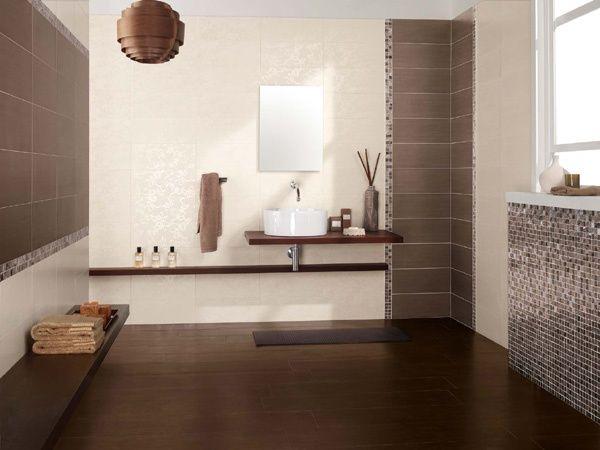 Rivestimento da bagno brown con decoro jungle full - Foto rivestimento bagno ...