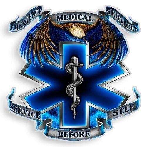 "3M Reflective Window Decal EMS Service Firefighter EMT Paramedic Sticker ""12"