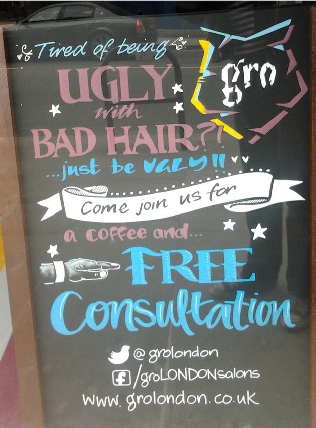 Gro salons, London. | 10 More Great/Terrible Local Business Slogans