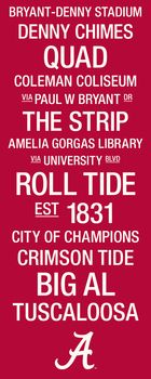 Alabama Crimson Tide College Town Wall Art with Logo Picture at Alabama Crimson Tide Photos