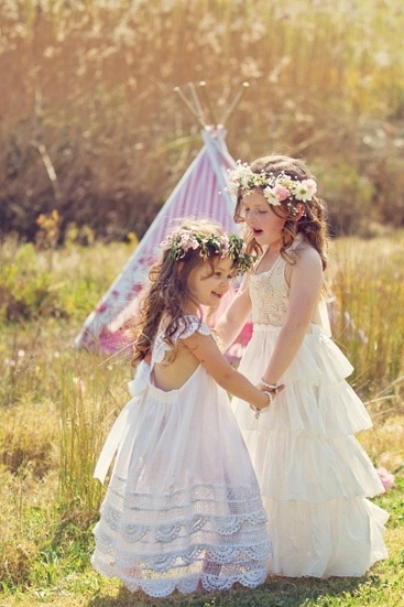 Vintage flower girl dresses.... if this goes that way we may need another little girl