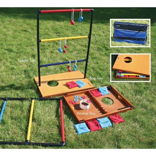 Triumph Sports Trio Toss Deluxe Game - Ladder Ball at Hayneedle