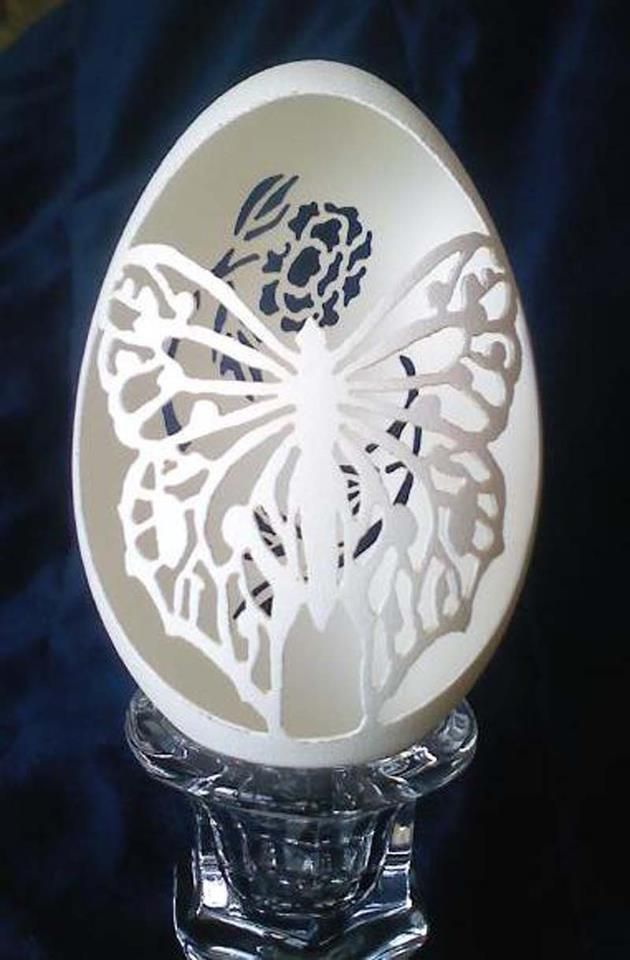 Hand carved egg shell. Wonderful in every way.