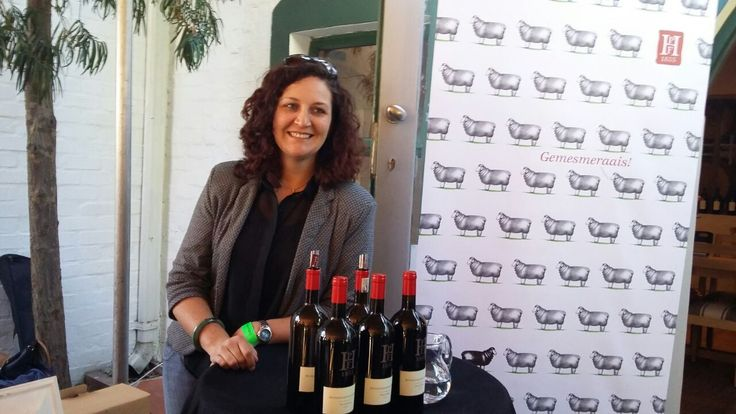 Winemaker Kim McFarlane showing off Swartskaap, our single variety Cabernet Franc this past weekend at the Cabernet Franc Carnival