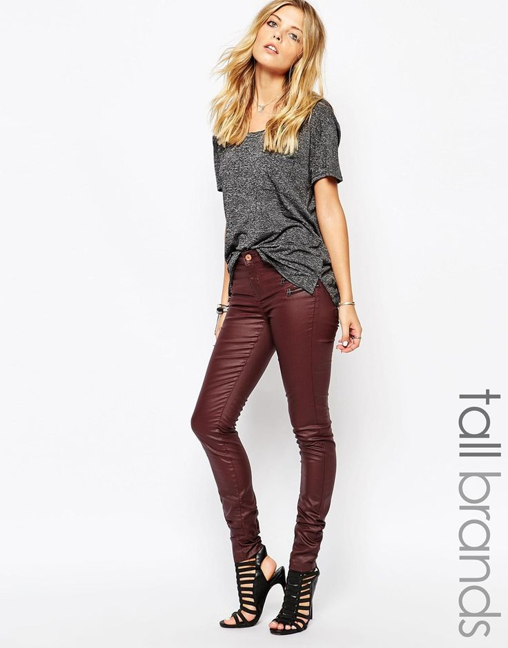 Noisy May Tall Coated Slim Leg Jean
