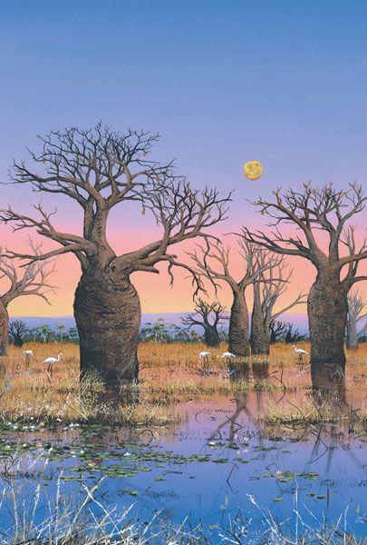 Brolgas and the Kimberley Moon