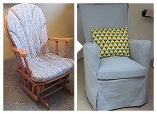 Re purpose the glider I rocked Carlin in. I have been wanting to refurnish it for forever! I cannot part with that chair.