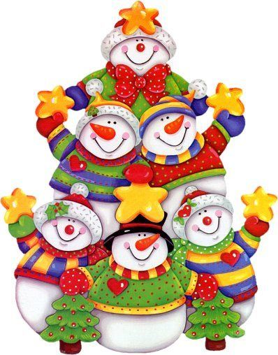 cute snowmen pyramid