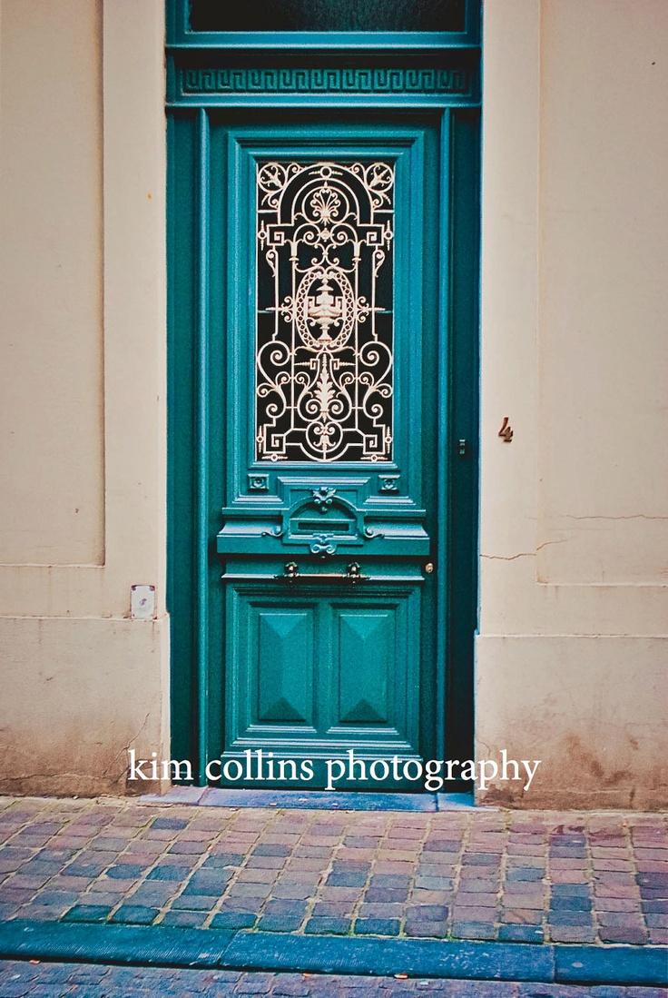 Turquoise Door-Brugge Belgium  Love this door!
