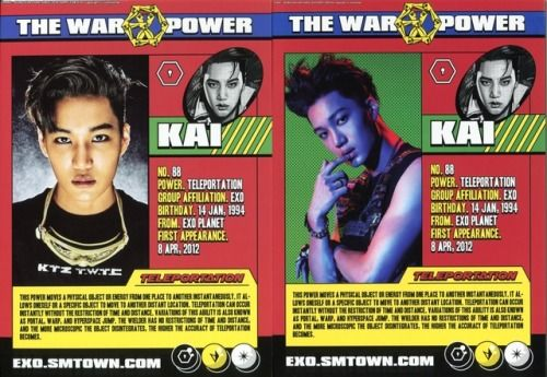 Kai - 170907 'The War: The Power of Music' album contents photo  Credit: Xiuminimal.
